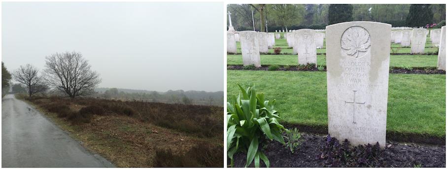 Sallandse Heuvelrug, landschap van het korhoen; Canadese begraafplaats Holten, 25 april 2015