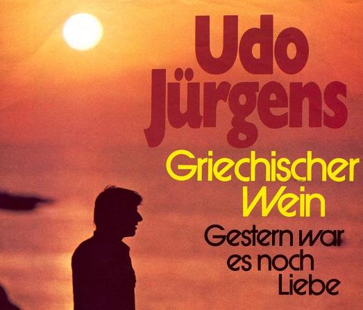 Singlehoes van Udo Jürgens, 'Griechischer Wein' (Ariola, 1974, fragment).