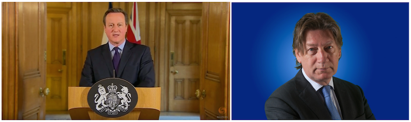Premier David Cameron (persconferentie 14 november 2015); Rob de Wijk (foto: HCSS).