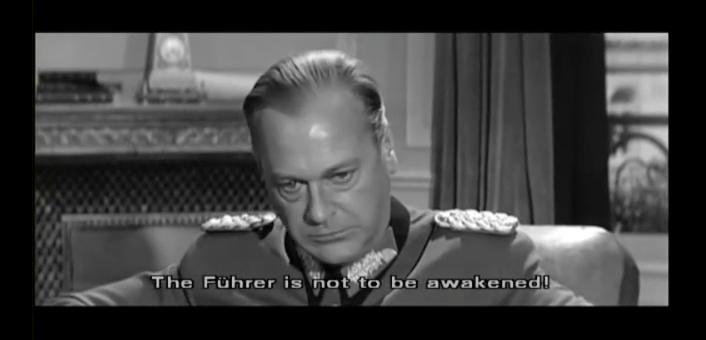 Acteur Curd Jürgens als generaal Blumentritt in 'The Longest Day' (1962)