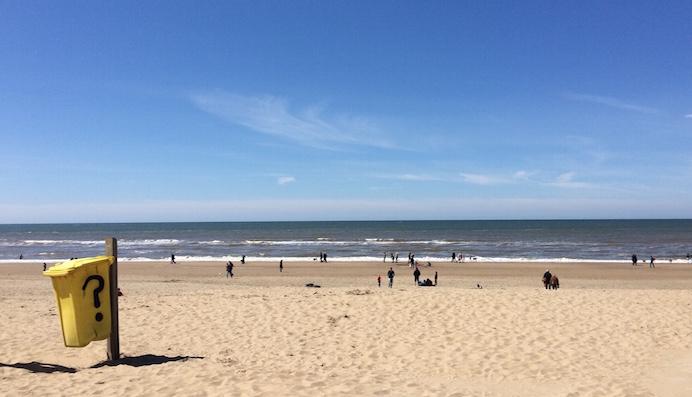 Het strand van Noordwijk (mei 2016).